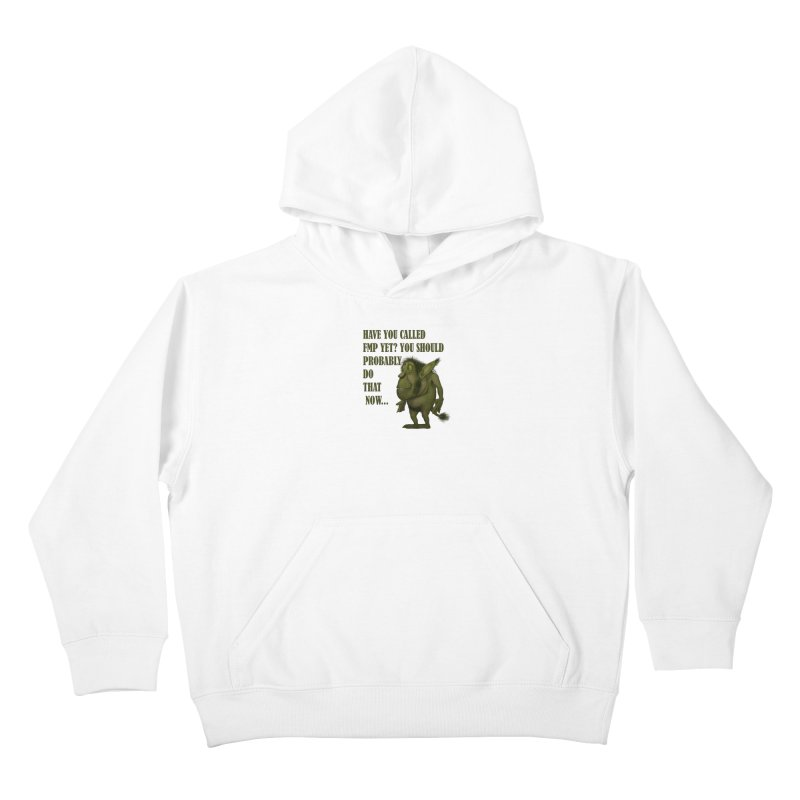 Call FMP now Kids Pullover Hoody by forestmoonparanormal's Artist Shop