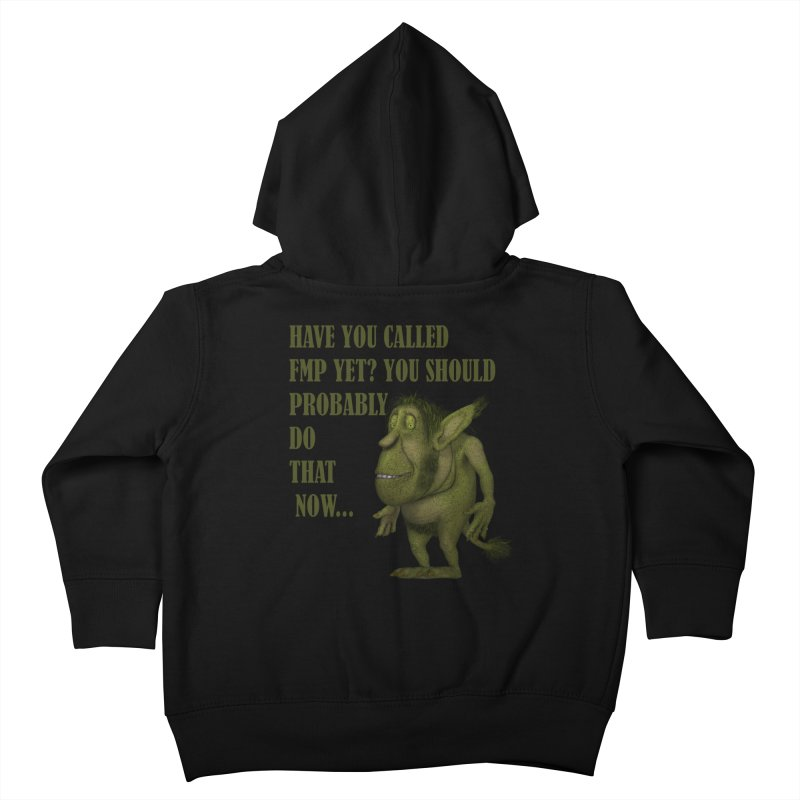 Call FMP now Kids Toddler Zip-Up Hoody by forestmoonparanormal's Artist Shop