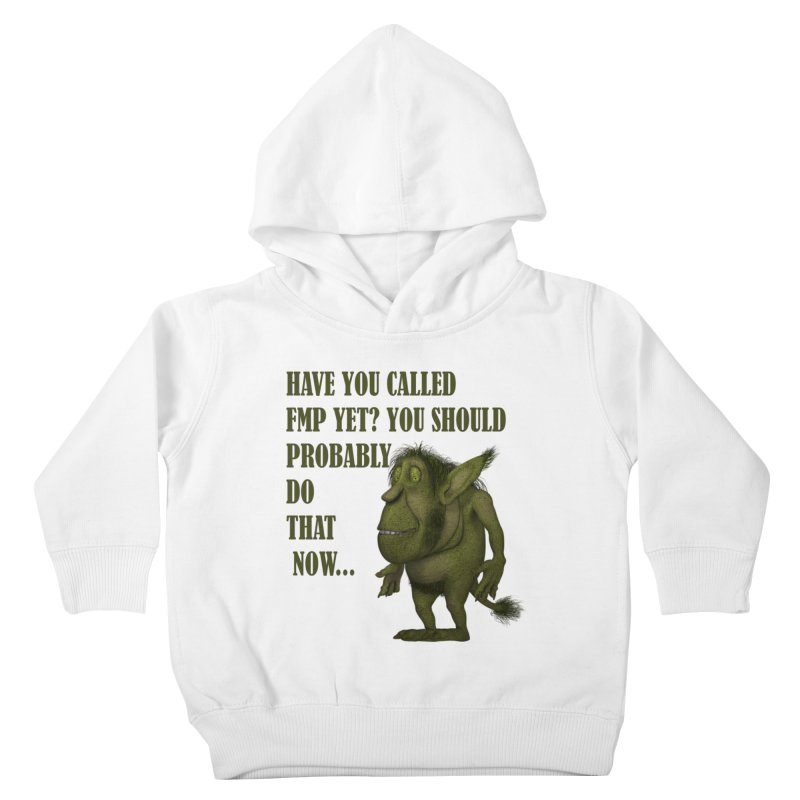 Call FMP now Kids Toddler Pullover Hoody by forestmoonparanormal's Artist Shop