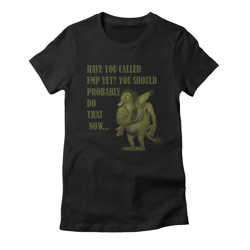 Call FMP now Women's Fitted T-Shirt by forestmoonparanormal's Artist Shop