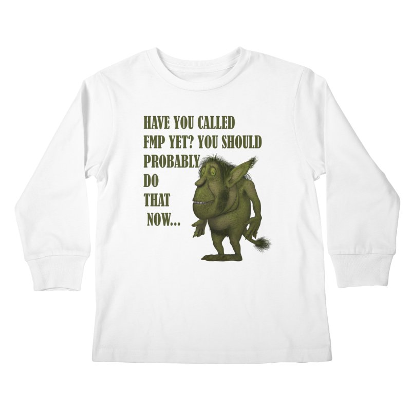 Call FMP now Kids Longsleeve T-Shirt by forestmoonparanormal's Artist Shop