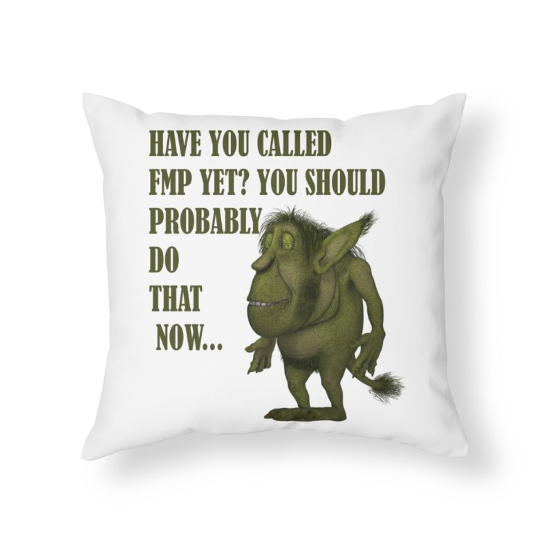Call FMP now Home Throw Pillow by forestmoonparanormal's Artist Shop