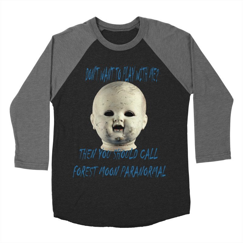 Play with Me Men's Baseball Triblend Longsleeve T-Shirt by forestmoonparanormal's Artist Shop