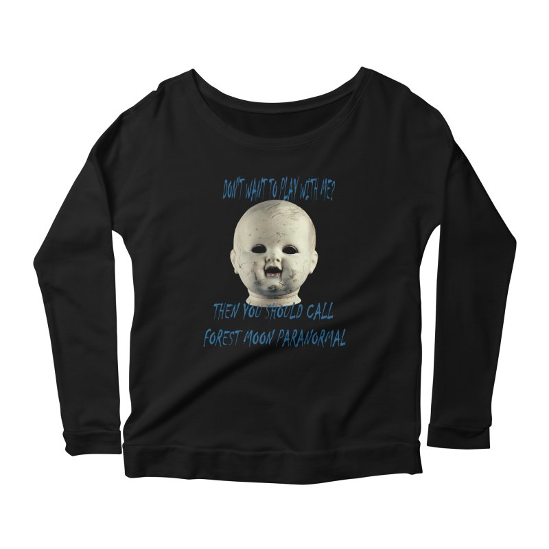 Play with Me Women's Scoop Neck Longsleeve T-Shirt by forestmoonparanormal's Artist Shop