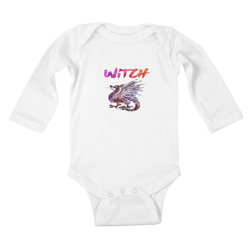 Witch Kids Baby Longsleeve Bodysuit by forestmoonparanormal's Artist Shop