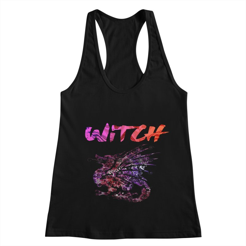 Witch Women's Racerback Tank by forestmoonparanormal's Artist Shop