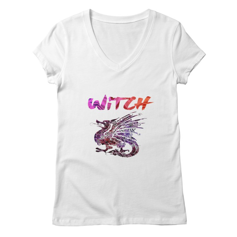 Witch Women's Regular V-Neck by forestmoonparanormal's Artist Shop