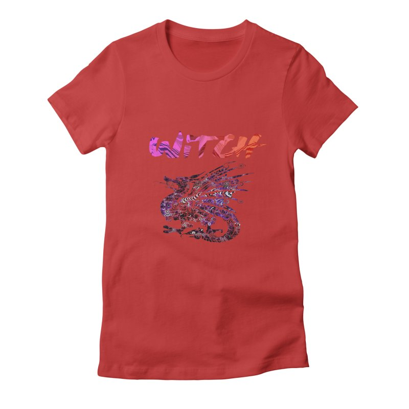 Witch Women's Fitted T-Shirt by forestmoonparanormal's Artist Shop
