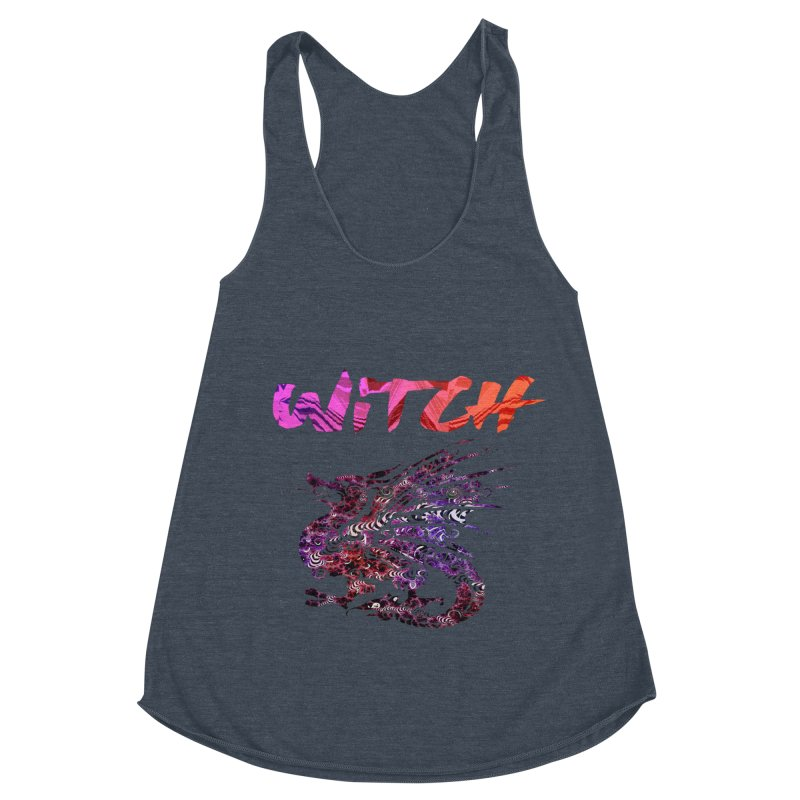 Witch Women's Racerback Triblend Tank by forestmoonparanormal's Artist Shop