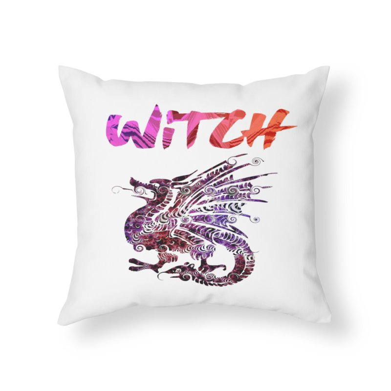 Witch Home Throw Pillow by forestmoonparanormal's Artist Shop