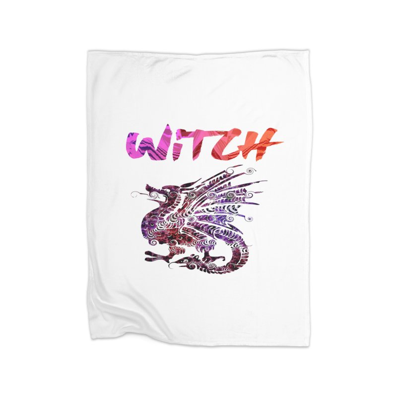Witch Home Fleece Blanket Blanket by forestmoonparanormal's Artist Shop