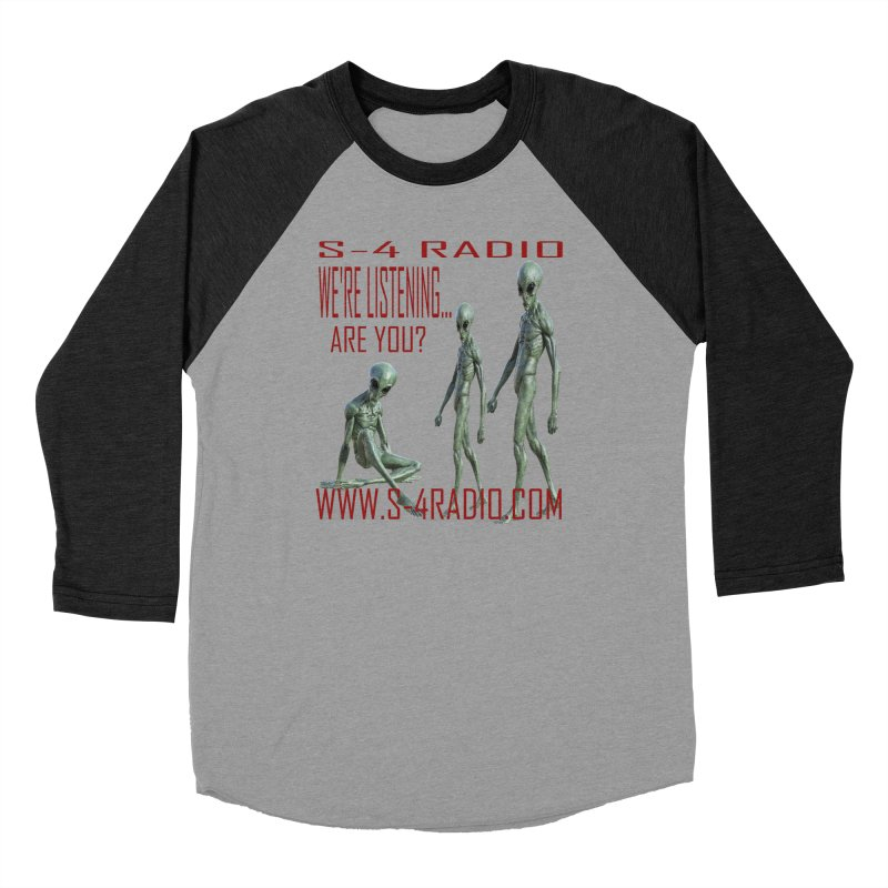 We're Listening... Men's Baseball Triblend Longsleeve T-Shirt by forestmoonparanormal's Artist Shop