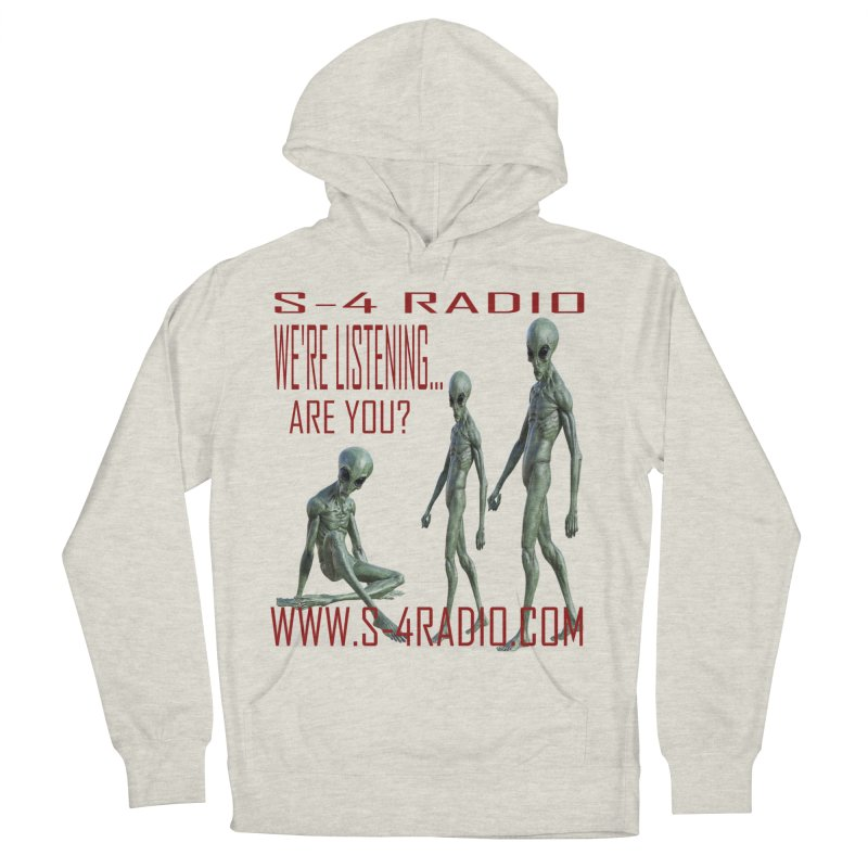 We're Listening... Men's French Terry Pullover Hoody by forestmoonparanormal's Artist Shop