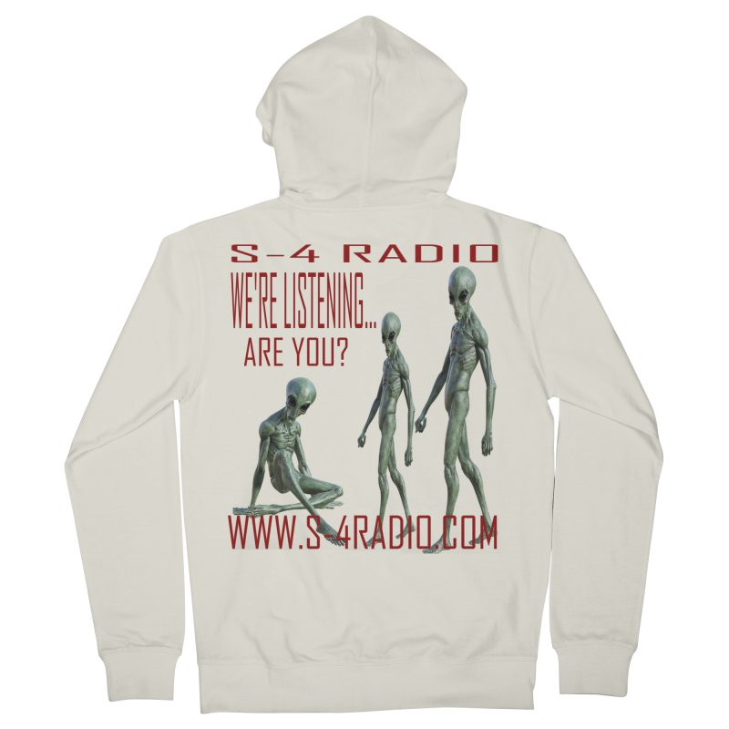 We're Listening... Men's French Terry Zip-Up Hoody by forestmoonparanormal's Artist Shop