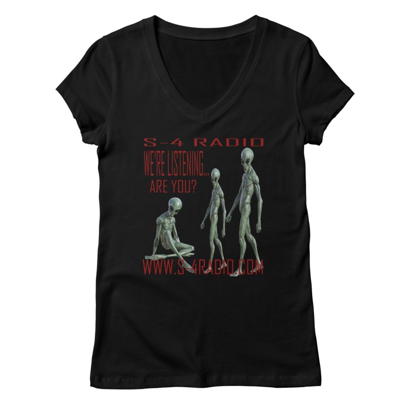 We're Listening... Women's V-Neck by forestmoonparanormal's Artist Shop