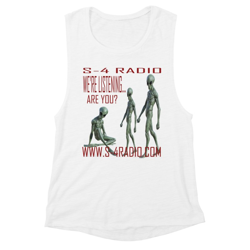We're Listening... Women's Muscle Tank by forestmoonparanormal's Artist Shop