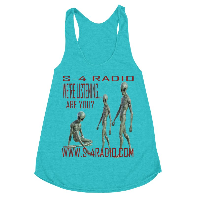 We're Listening... Women's Racerback Triblend Tank by forestmoonparanormal's Artist Shop