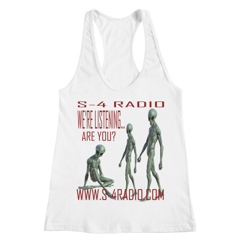 We're Listening... Women's Racerback Tank by forestmoonparanormal's Artist Shop