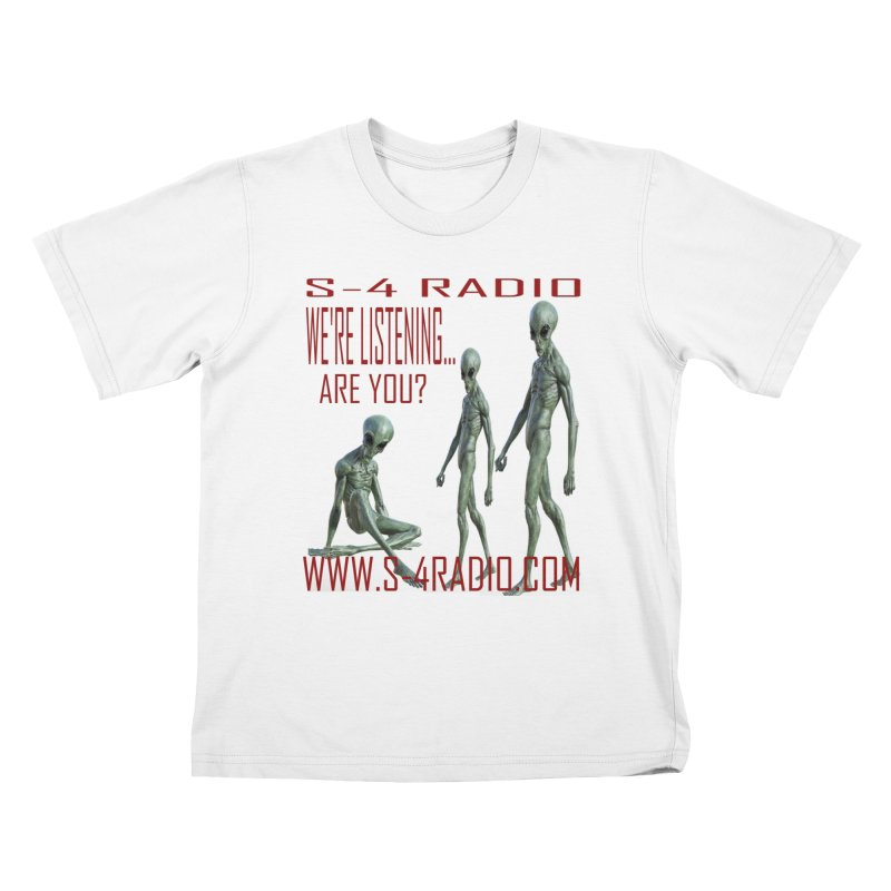 We're Listening... Kids T-Shirt by forestmoonparanormal's Artist Shop