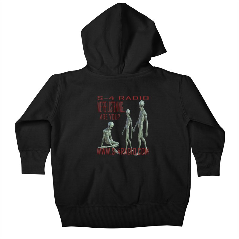 We're Listening... Kids Baby Zip-Up Hoody by forestmoonparanormal's Artist Shop