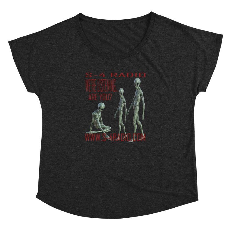 We're Listening... Women's Dolman Scoop Neck by forestmoonparanormal's Artist Shop