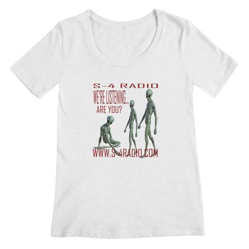 We're Listening... Women's Regular Scoop Neck by forestmoonparanormal's Artist Shop