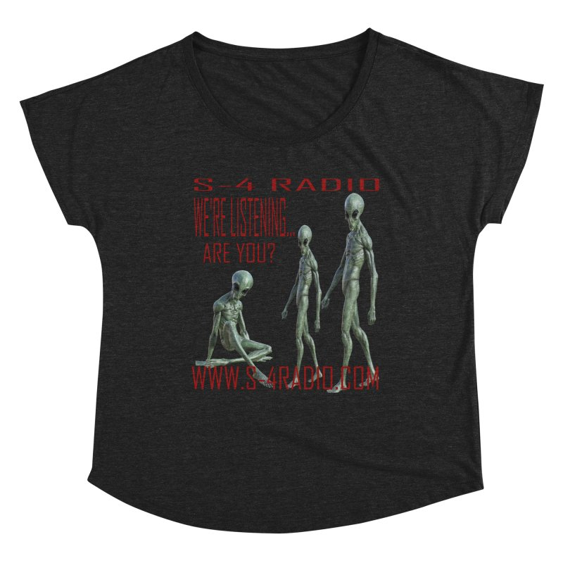 We're Listening... Women's Scoop Neck by forestmoonparanormal's Artist Shop