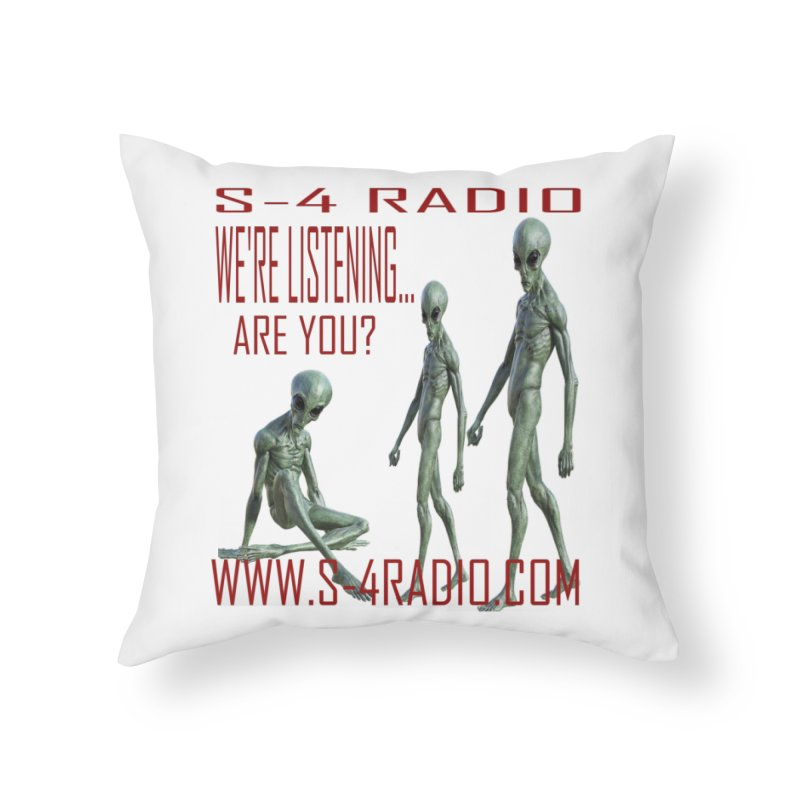 We're Listening... Home Throw Pillow by forestmoonparanormal's Artist Shop