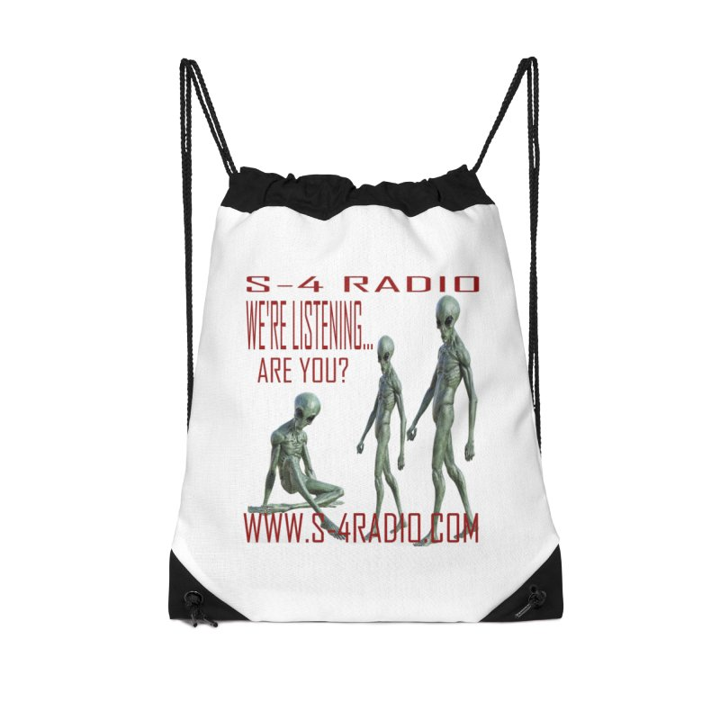 We're Listening... Accessories Drawstring Bag Bag by forestmoonparanormal's Artist Shop