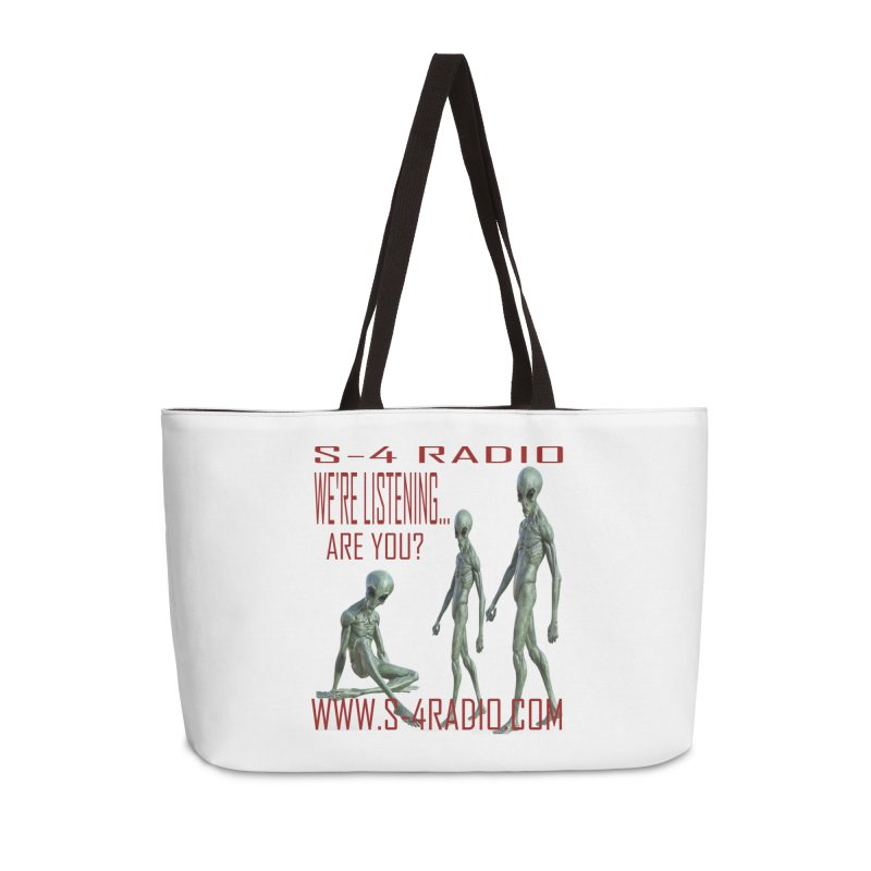 We're Listening... Accessories Weekender Bag Bag by forestmoonparanormal's Artist Shop