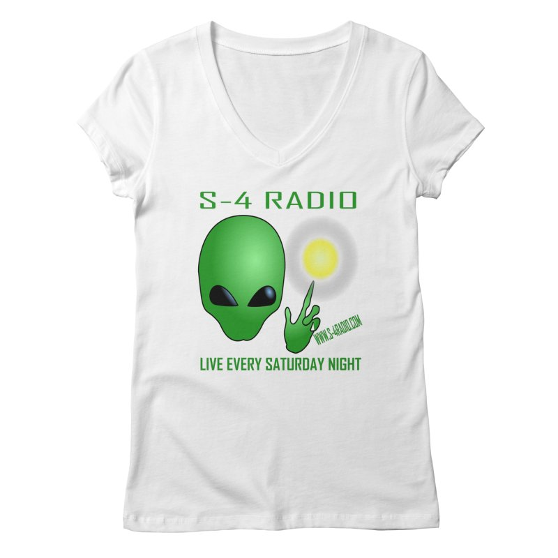 S-4 Radio Women's Regular V-Neck by forestmoonparanormal's Artist Shop