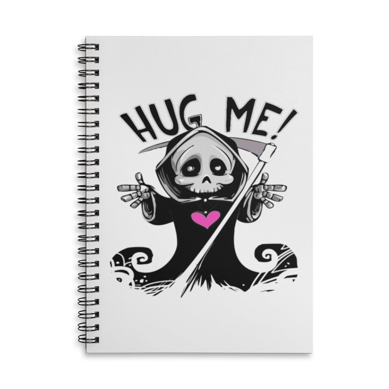 Hug Me! Accessories Lined Spiral Notebook by forestmoonparanormal's Artist Shop