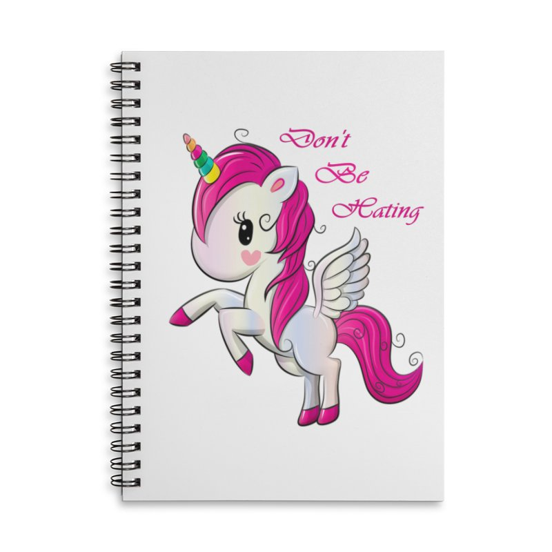 Don't Be Hating Accessories Lined Spiral Notebook by forestmoonparanormal's Artist Shop