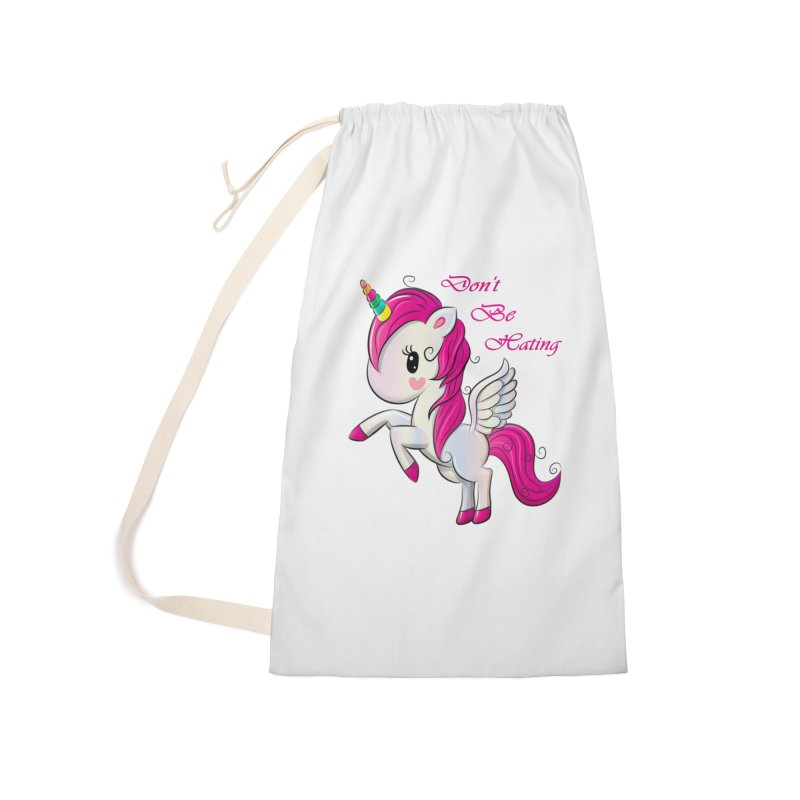 Don't Be Hating Accessories Laundry Bag Bag by forestmoonparanormal's Artist Shop