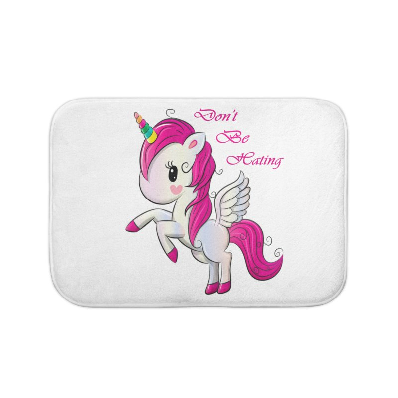 Don't Be Hating Home Bath Mat by forestmoonparanormal's Artist Shop