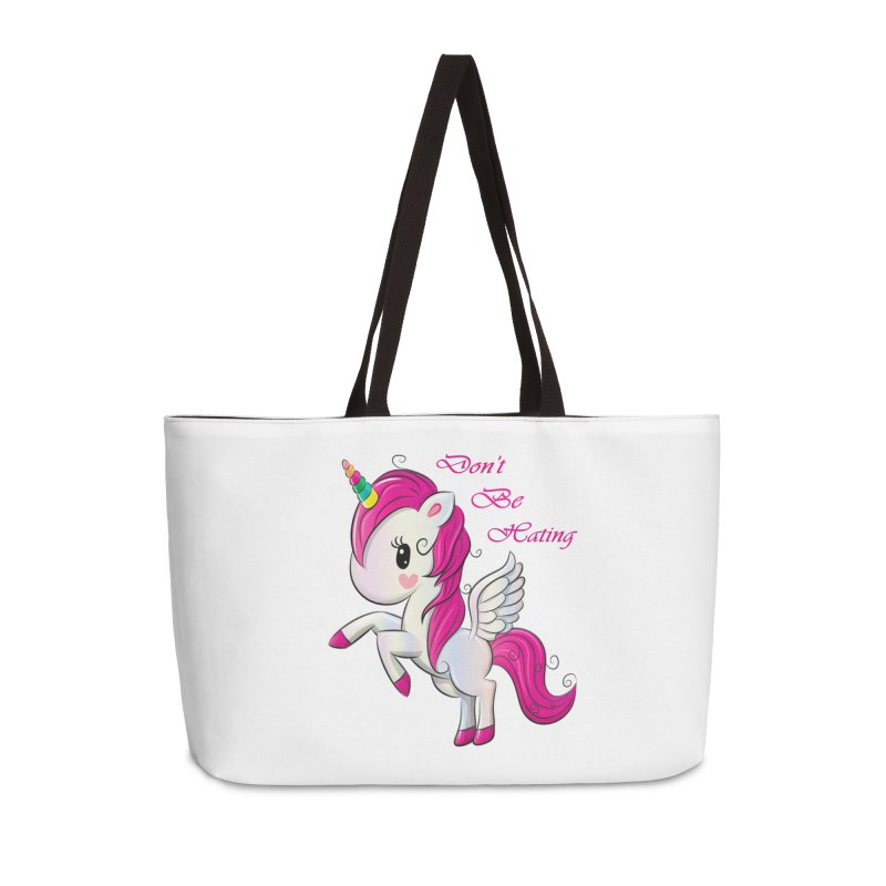 Don't Be Hating Accessories Weekender Bag Bag by forestmoonparanormal's Artist Shop