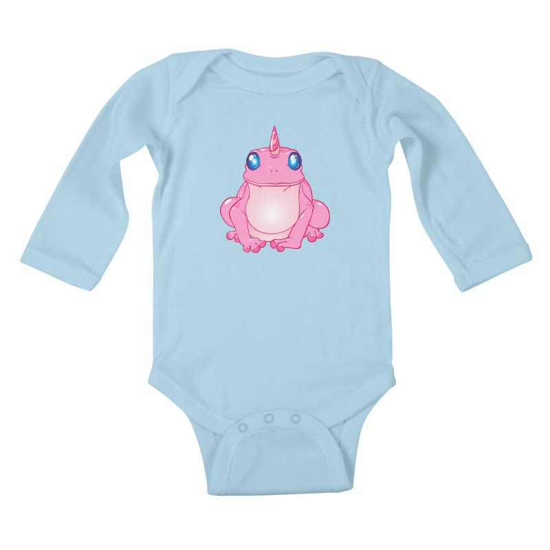 Frogicorn Kids Baby Longsleeve Bodysuit by forestmoonparanormal's Artist Shop