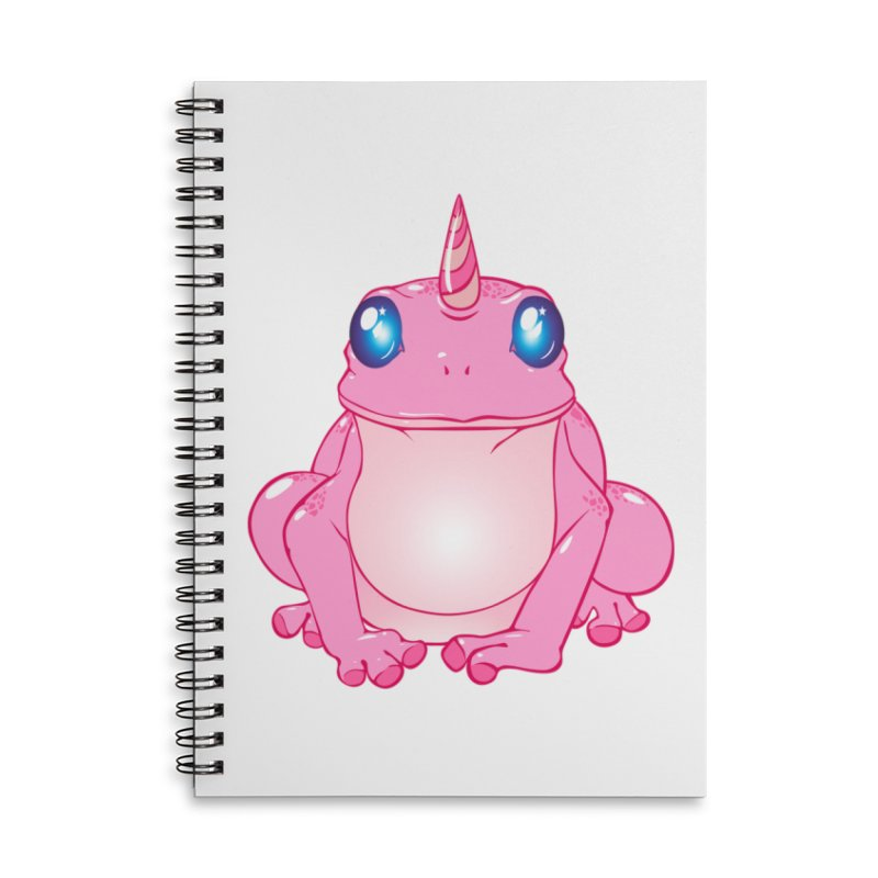 Frogicorn Accessories Lined Spiral Notebook by forestmoonparanormal's Artist Shop