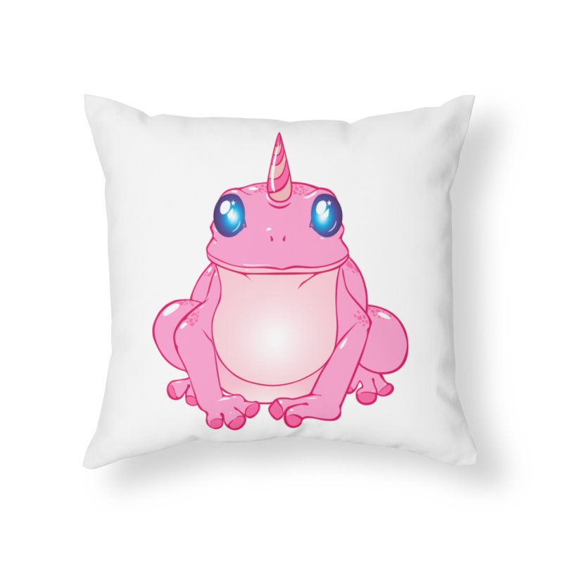 Frogicorn Home Throw Pillow by forestmoonparanormal's Artist Shop