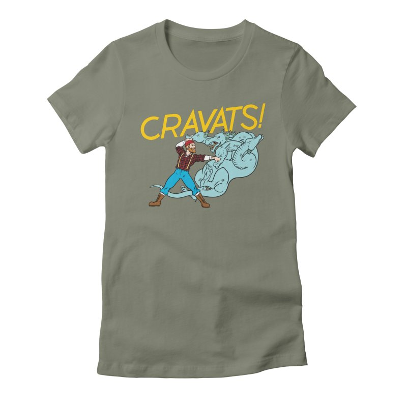Cravats! Women's Fitted T-Shirt by forlornfunnies's haute couture