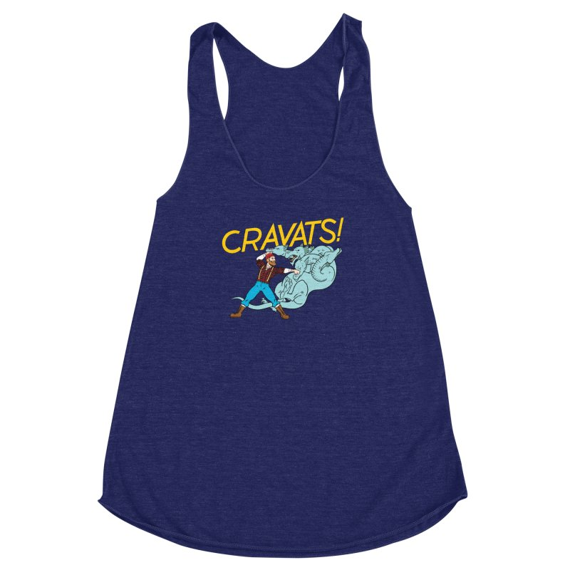 Cravats! Women's Racerback Triblend Tank by forlornfunnies's haute couture