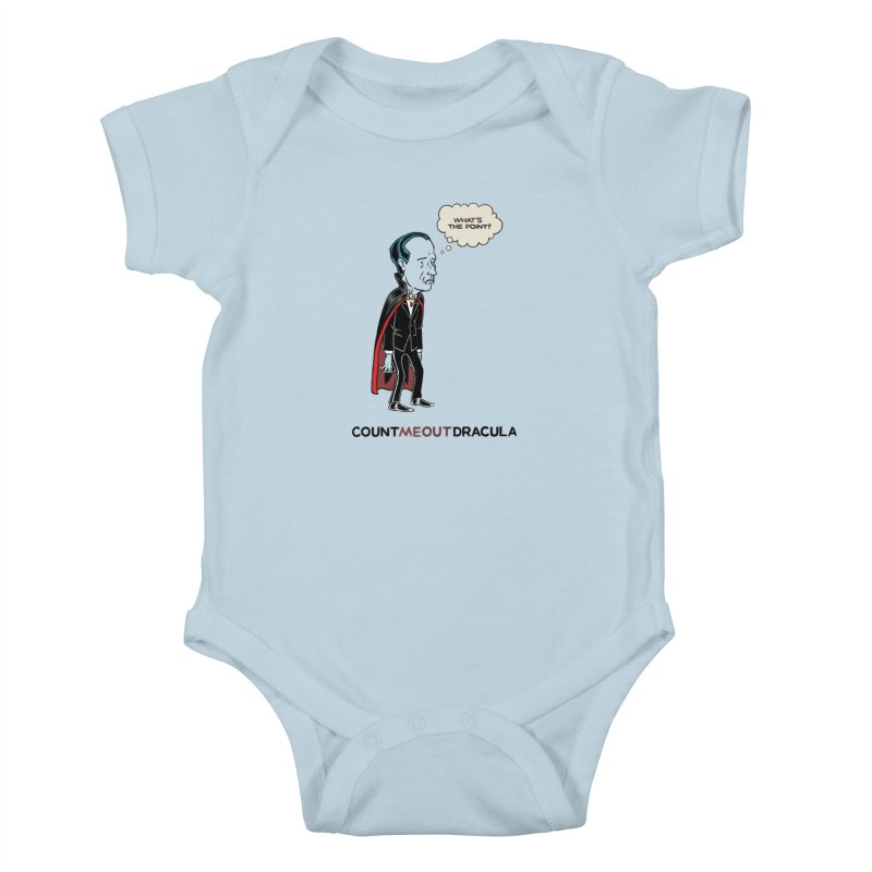 Count Me Out Dracula Kids Baby Bodysuit by forlornfunnies's haute couture