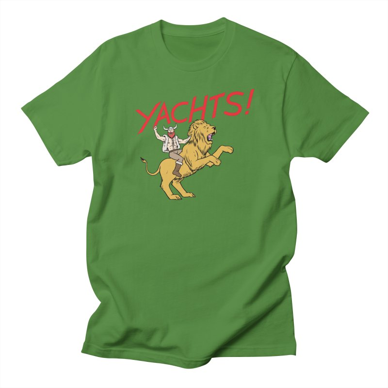 Yachts! Men's Regular T-Shirt by forlornfunnies's haute couture