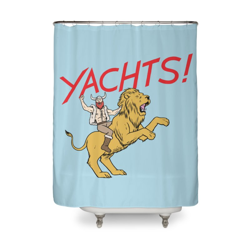 Yachts! Home Shower Curtain by forlornfunnies's haute couture
