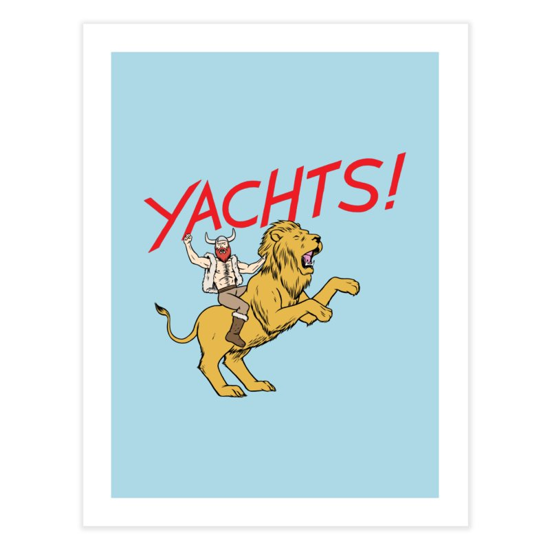 Yachts! Home Fine Art Print by forlornfunnies's haute couture