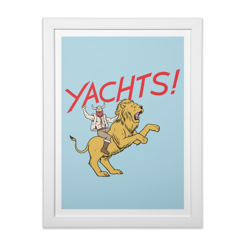 Yachts! Home Framed Fine Art Print by forlornfunnies's haute couture