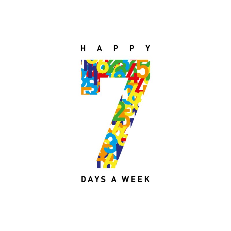 Happy 7 days a week Men's T-shirt by Formake Design