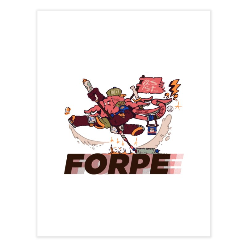 Kung Fu Forpe Home Fine Art Print by forpe's Artist Shop