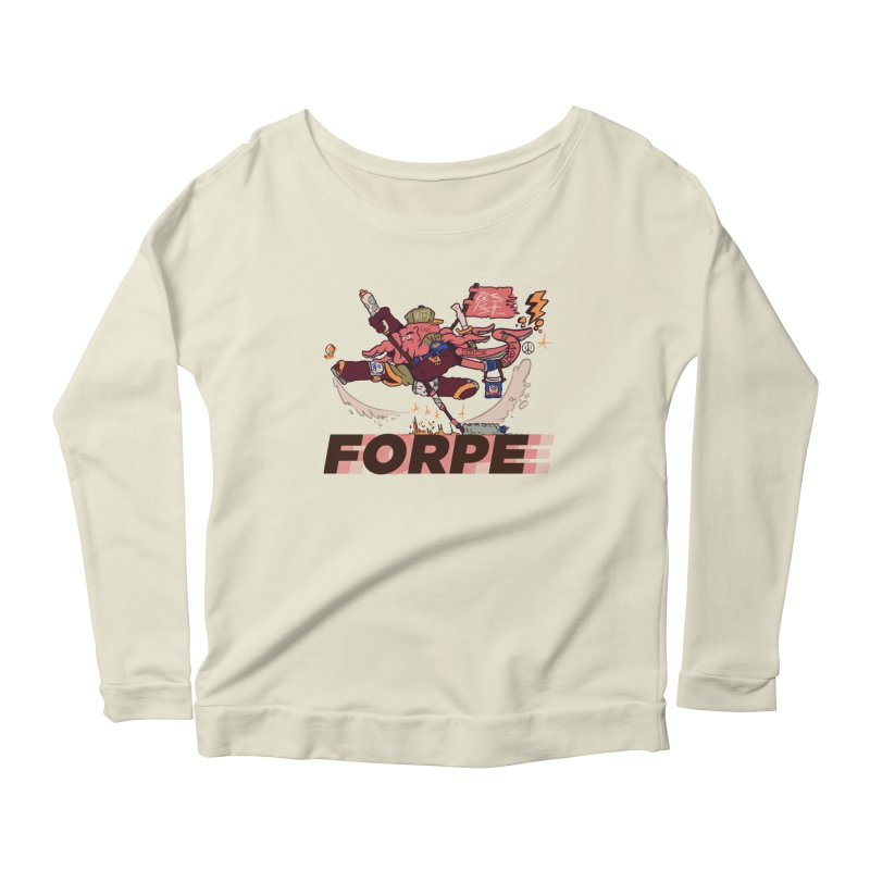 Kung Fu Forpe Women's Scoop Neck Longsleeve T-Shirt by forpe's Artist Shop