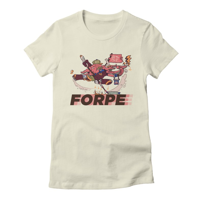 Kung Fu Forpe Women's Fitted T-Shirt by forpe's Artist Shop